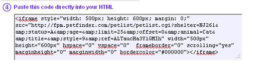 petfinder pet list scroller for