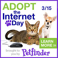 Help Petfinder Adopt the Internet Day Badge