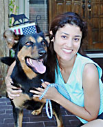 Rottweiler dog adopted through Petfinder