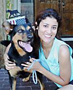 Rottweiler dog adopted through Petfinder