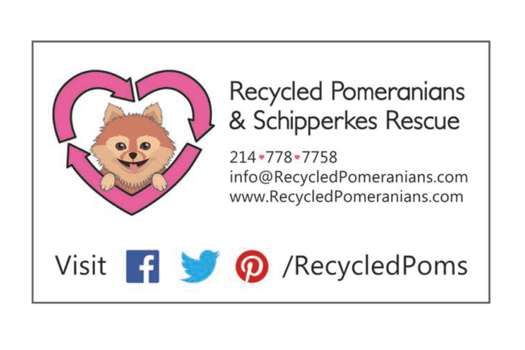 Recycled Poms and Schipperkes